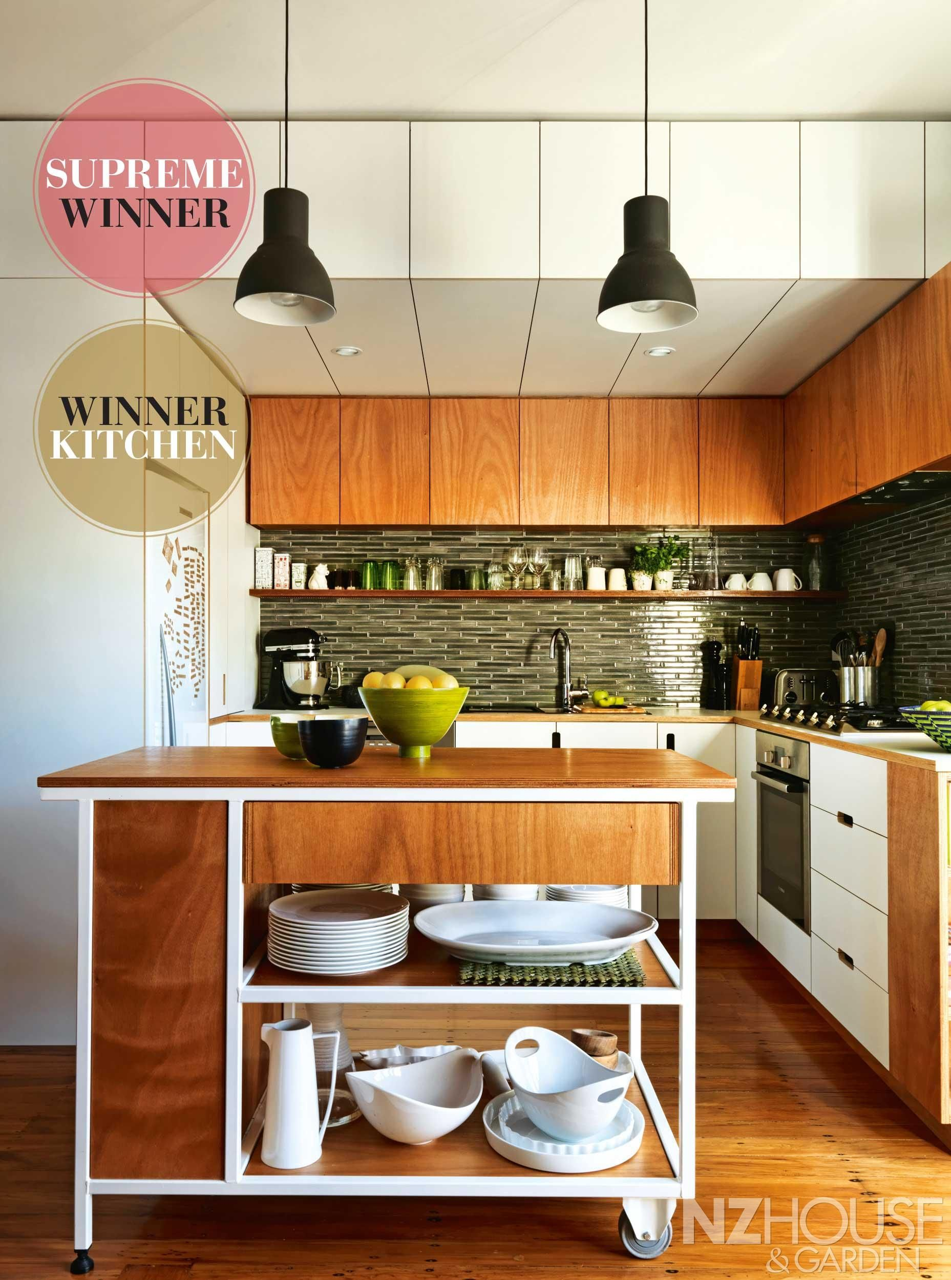 NZ House and Garden kitchen of the year 2014. Love the timber ...