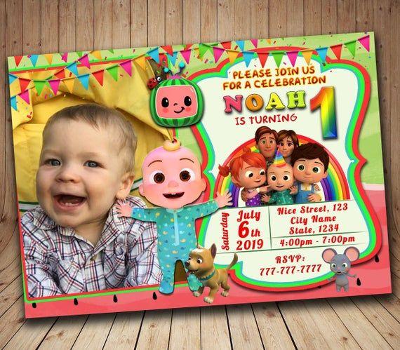 digital cocomelon birthday invitation personalized