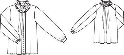 Ruffle-neck Blouse  www.sewingavenue.com