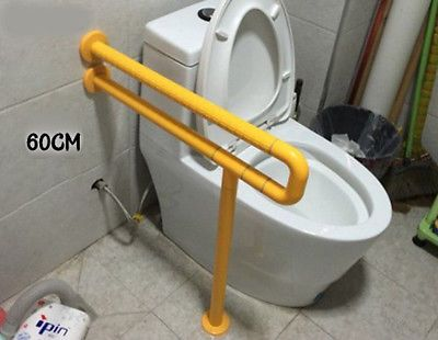 Yellow Bathroom Toilet Safety Grab Bar Length 60CM Elderly