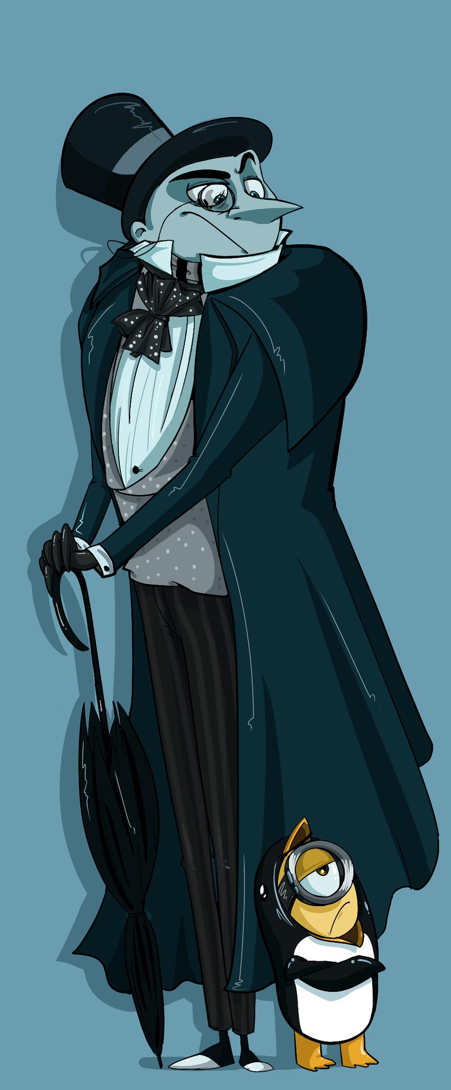 Gru As The Penguin (Despicable Me Batman Returns) Interesting Combination
