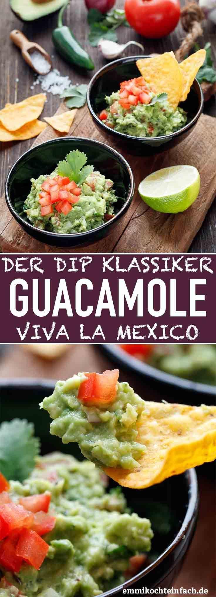 Mexikanische Guacamole - Der einfache Dip-Klassiker - emmikochteinfach