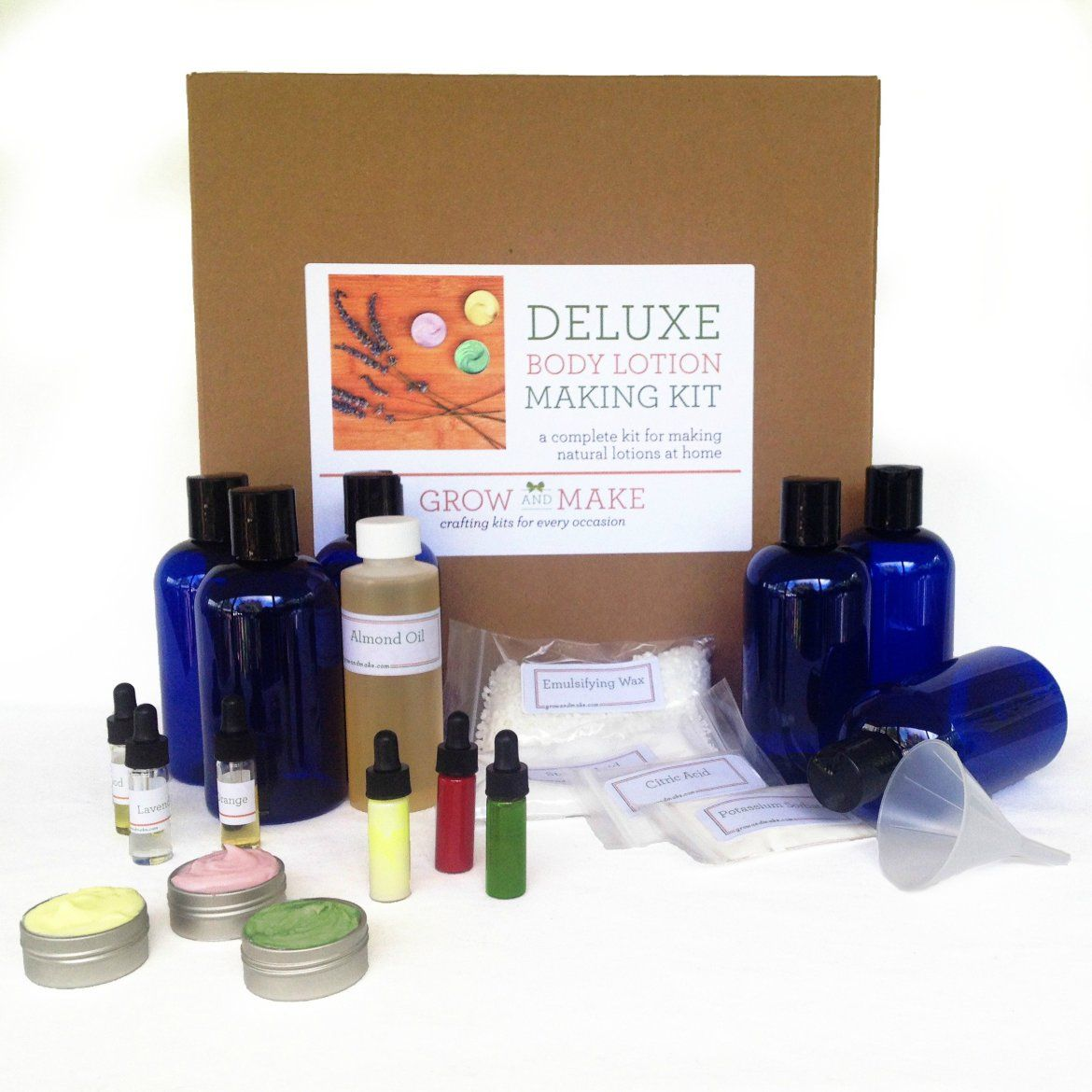Deluxe diy body lotion making kit learn how to make home