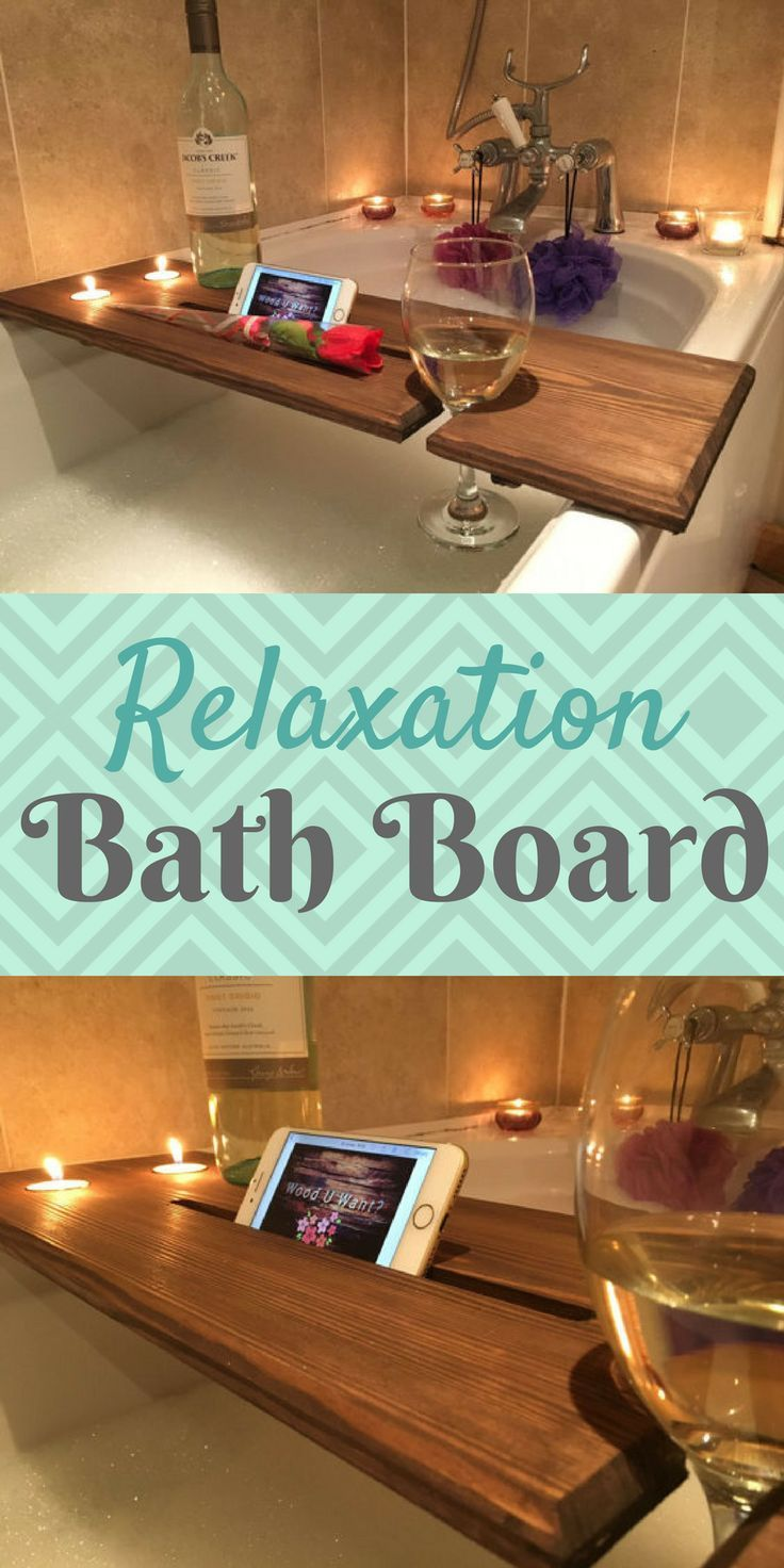 Relaxation Wooden Bath Board, Bath Caddy, Bath Rack #bath ...