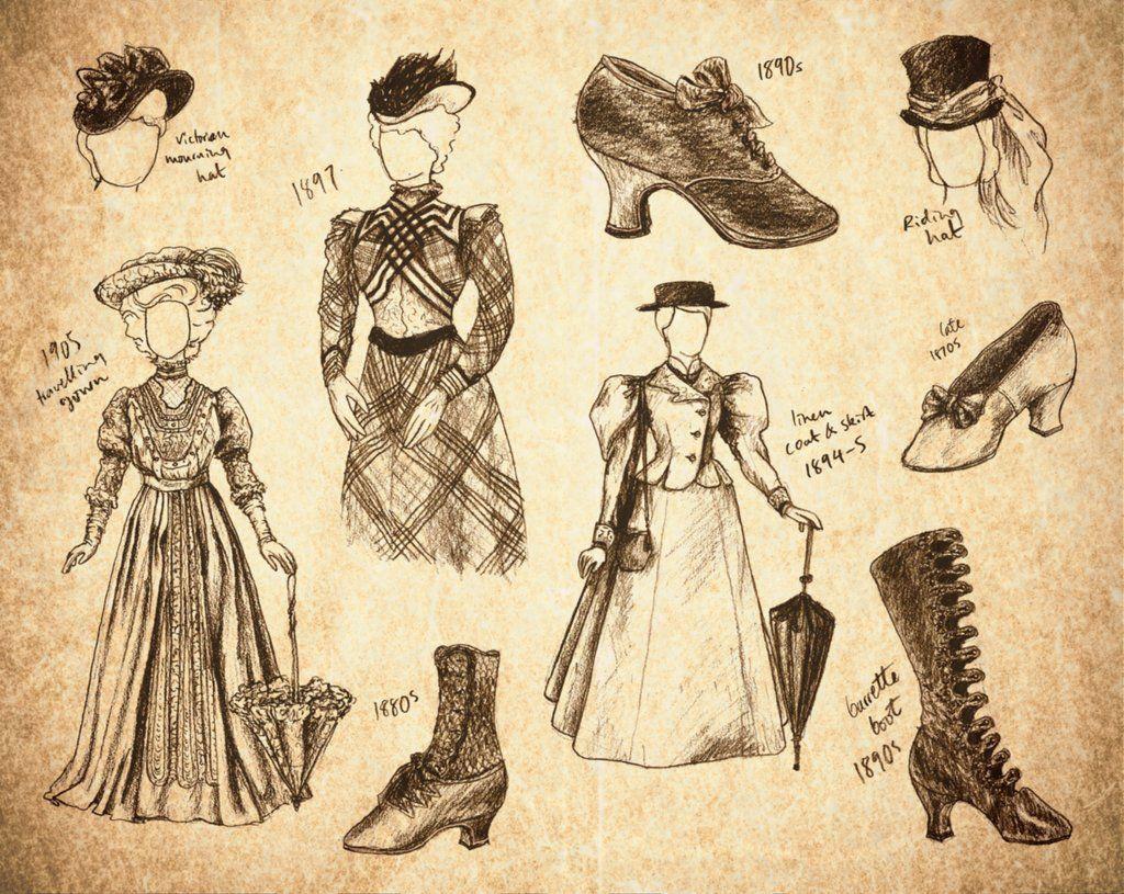 Steampunk sketches http//skopseudonym.deviantart.com/art/Steampunk-Fashion-Sketches-170505163 ...