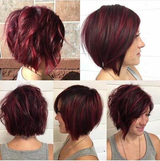 Wow Deze 10 Korte Kapsels In Verschillende Donkere Rode Kleuren Moet Jij Ook Zien Kapsels Voor Haar Frisur Rote Haare Rote Haare Kurze Lila Haare