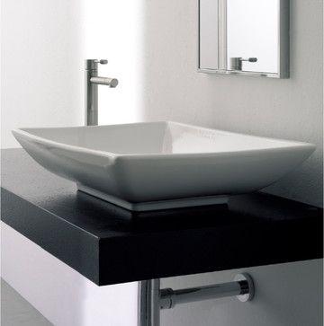 Over Counter Sink Google Search Ceramic Bathroom Sink Contemporary Bathroom Sinks Above Counter Bathroom Sink