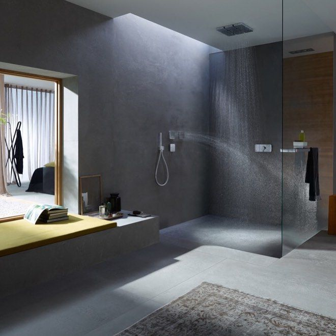 Flat. Rounded. Beauty in design. An interactive control unit in the shower. AXOR One enables form and function.    #AXOR #design #axordesign #AXOROne #shower�#inspiration #interiordesign #designlovers #bathroom #water #BarberOsgerby