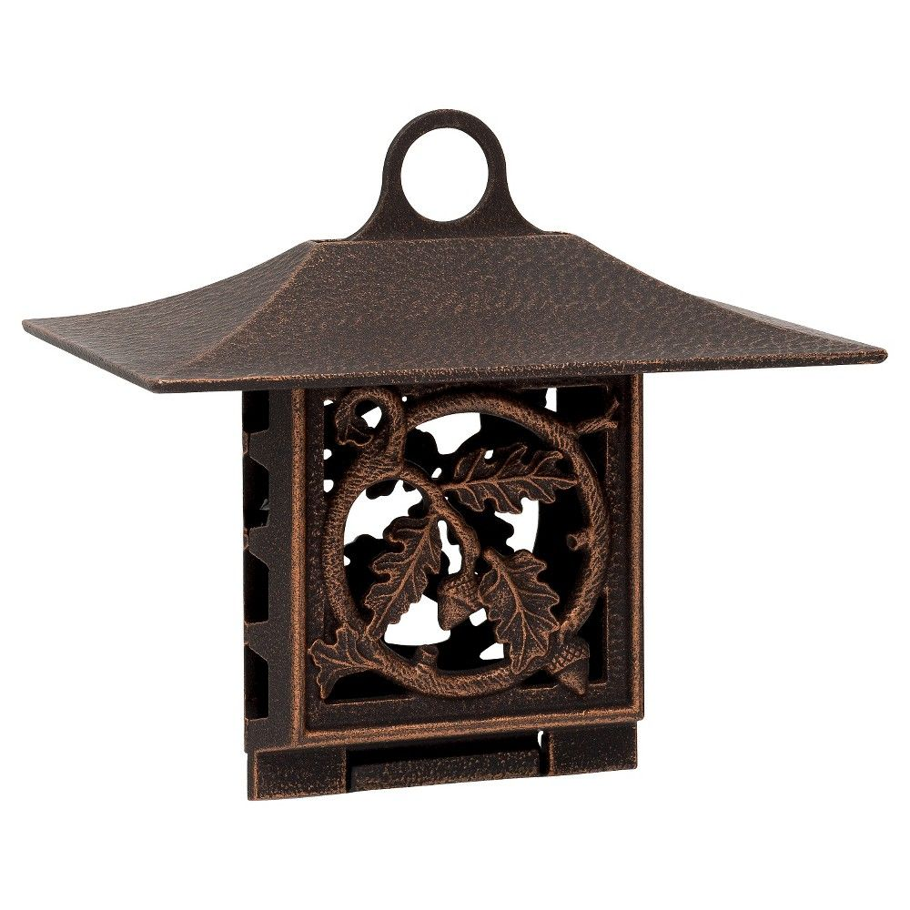 Oak Leaf Suet Bird Feeder - Oil-Rubbed Bronze