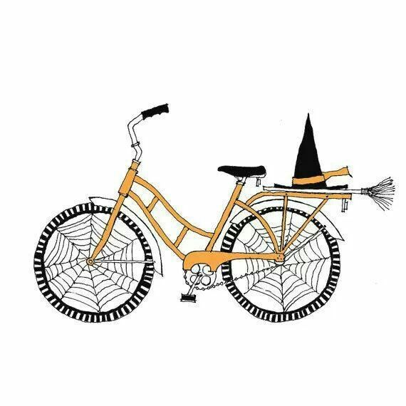 Cute witch bike