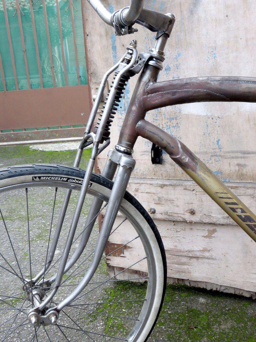 Homemade Springer Fork Motobecane Ratrodbike Bike Trailer