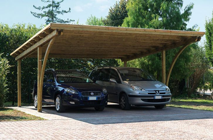 Wooden Carport With Cool Bendy Bits With Images Carport Designs Wooden Carports Carport