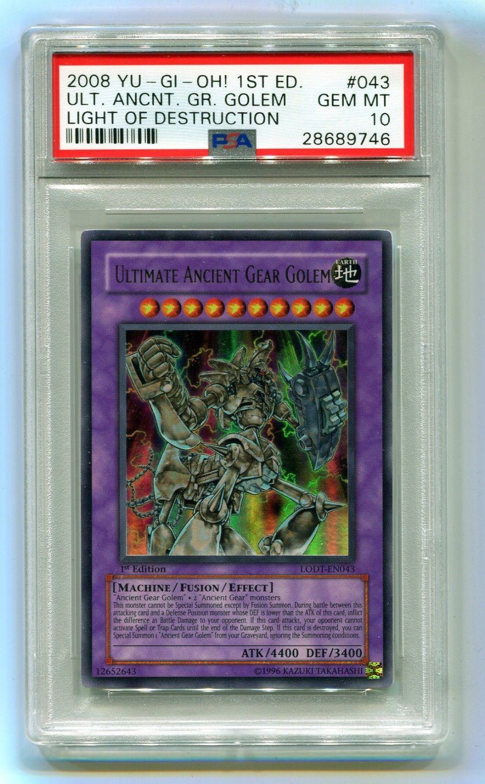 Yu-Gi-Oh 1st Edition Ultimate Ancient Gear Golem LODT-EN043