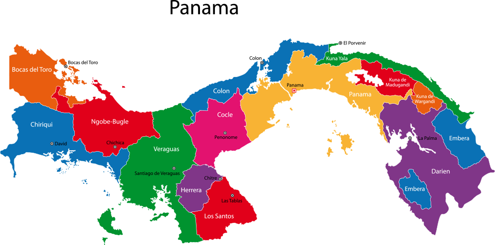 Panama Map with cities - blank outline map of Panama- | Maps ...