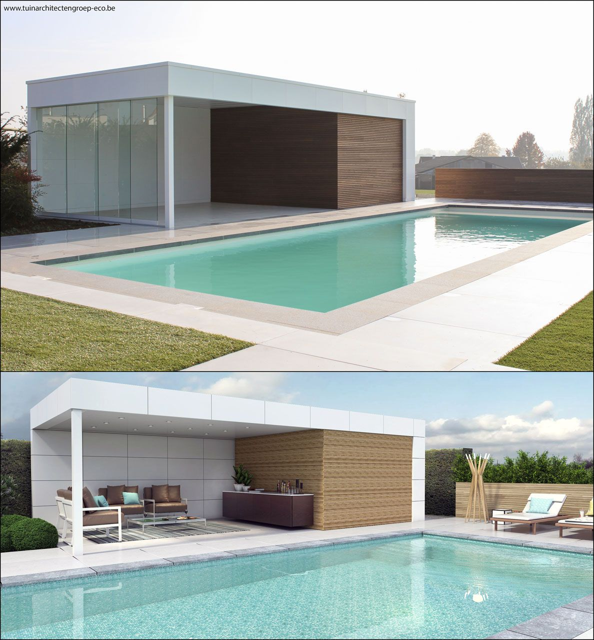 Home Plans With Pool House: Alu / Wood Design Poolhouse