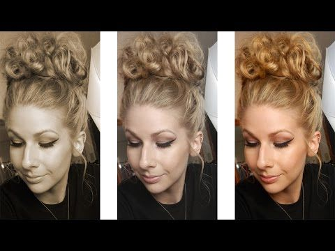How To Do A Bun That Won T Stretch Or Put Too Much Tension On Your Curls Bun Hairstyles Curly Bun Hairstyles Messy Bun Hairstyles