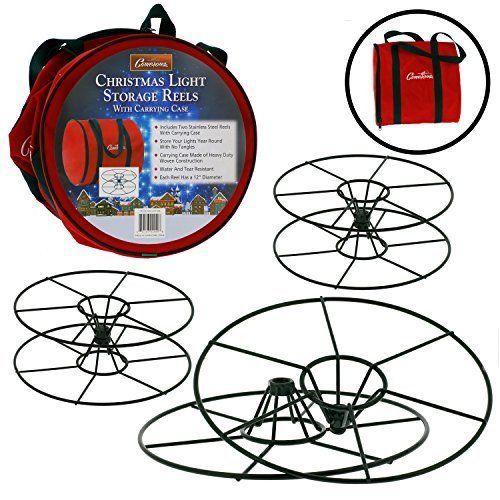 Christmas Light Storage Wheels And Bag Organizer Tangle Free Water Resistant Christmas Light Storage Christmas Storage Storage Wheels