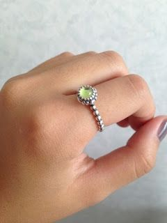 pandora birthstone ring august