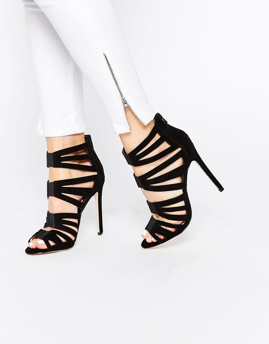 Image 1 ofASOS HIT THE MARK Caged High Heels