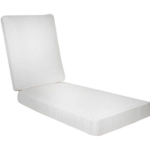 Charmant Ultimatepatio.com Extra Long Replacement Outdoor Chaise Lounge Cushion With  Knife Edge Canvas Natural For Sale ...