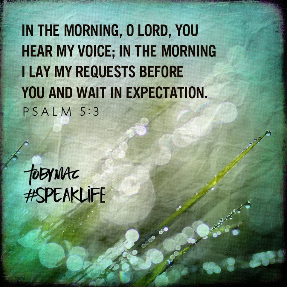Psalm 5: 3
