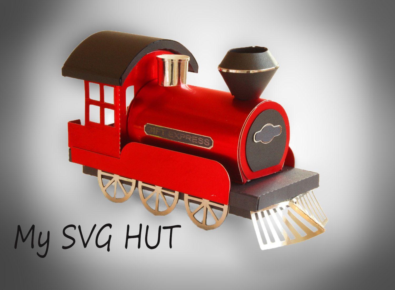 3D SVG Steam Train DIGITAL download Paper train, Train