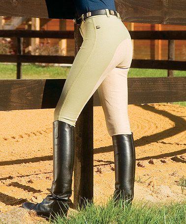 Beige Versailles Full-Seat Lo-Rise Riding Breeches - Women #zulily #zulilyfinds
