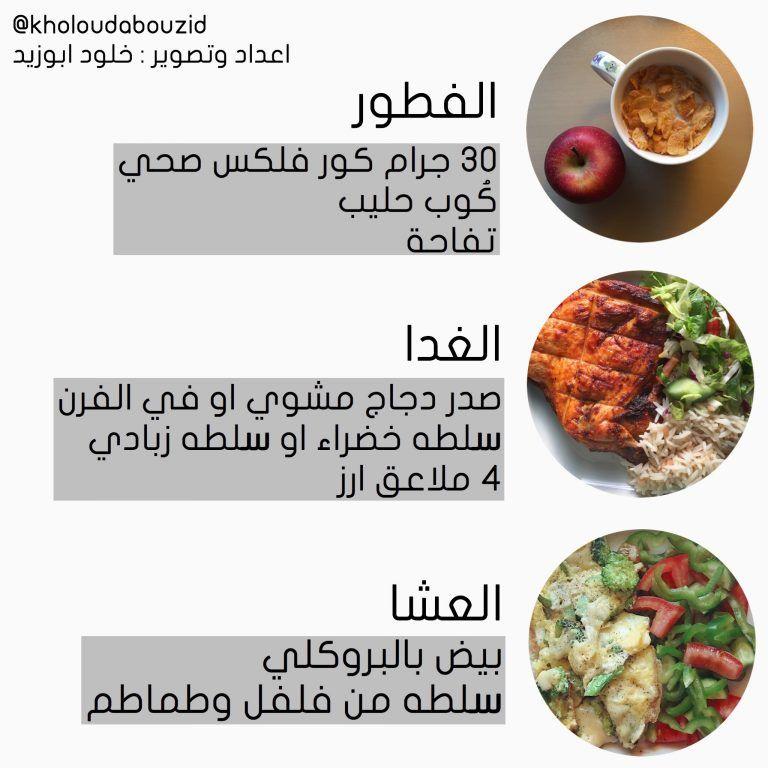 نظام دايت صحي ١٣٠٠ سعر حراري خلود ابوزيد Health Fitness Food Health Facts Food Workout Food