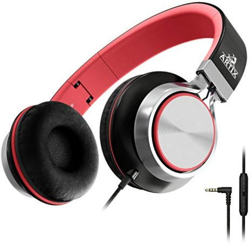 Artix CL750 Foldable Headphones with Microphone and Volume