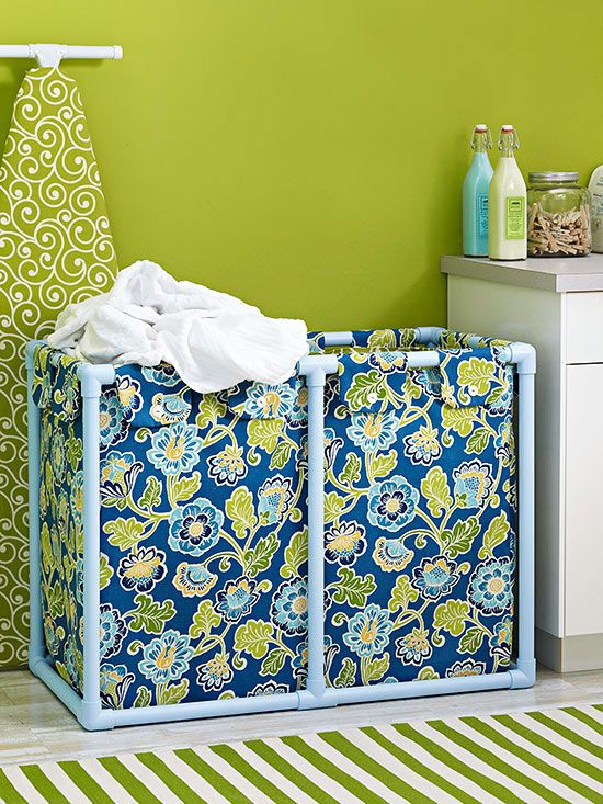 do it yourself laundry room ideas learn how to make this pretty diy laundry hamper diy storage