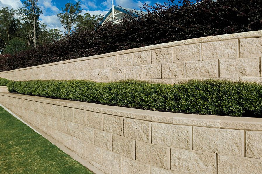 Retaining Wall Design Brick : Retaining wall blocks backyard patio