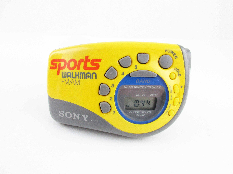 Sony SRF-M78 Sports Walkman FM//AM Radio Digital Tuning w// Arm Band