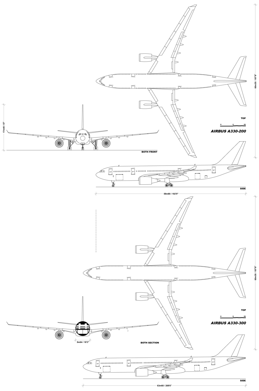 Pleasant A330 Family Schematic Aircraft Families And Models Airplane Wiring 101 Capemaxxcnl