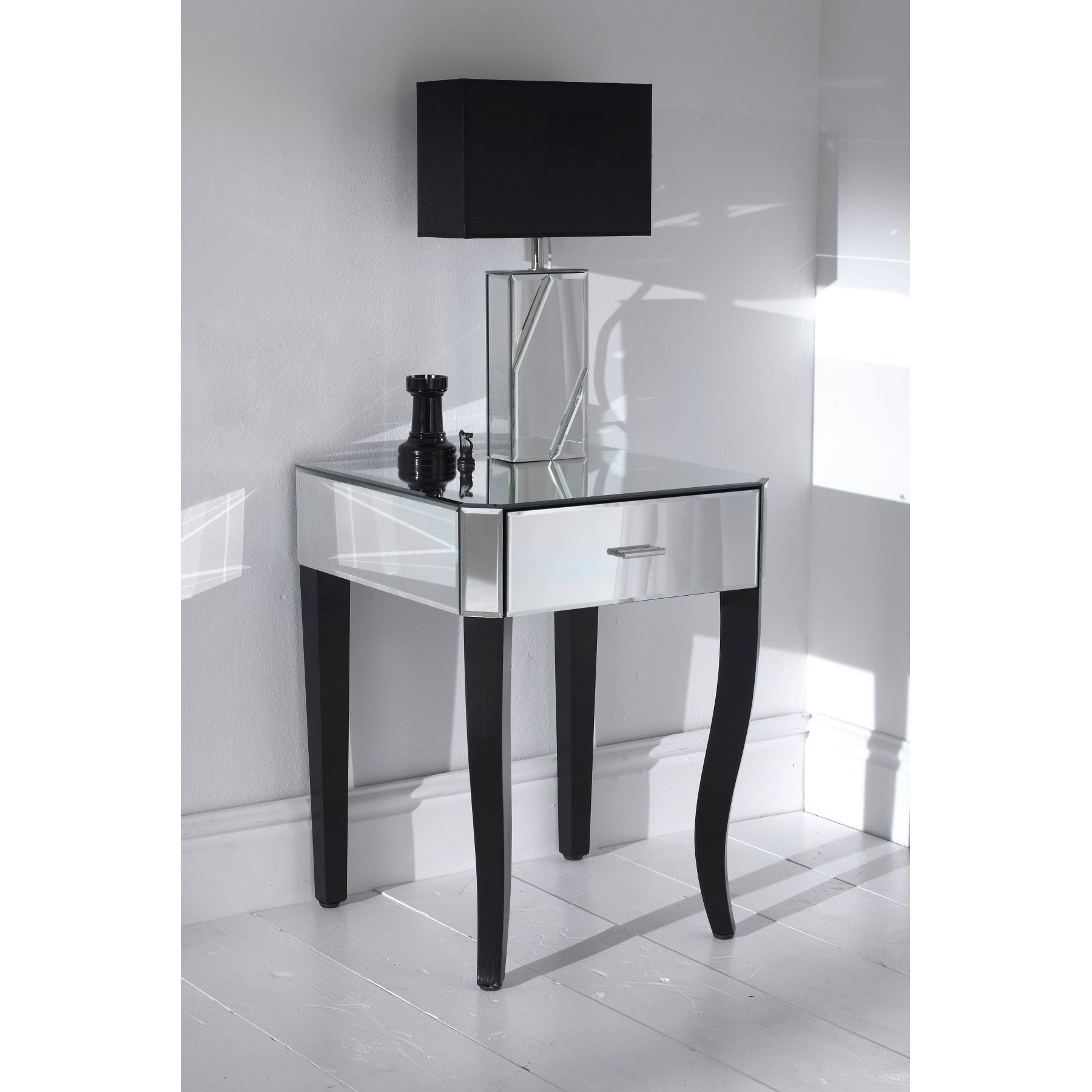 Modern black bedside table - Romano Mirrored Side Table 3735 3493_zoom Jpg