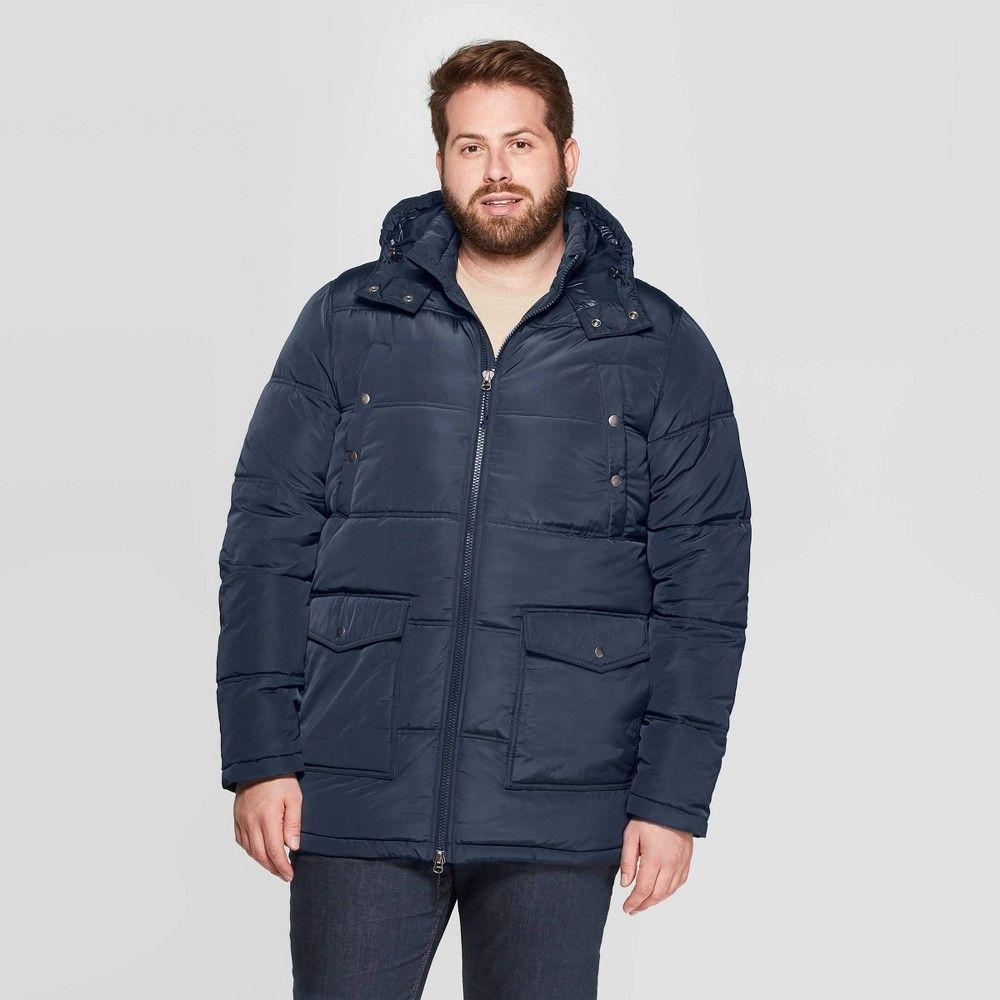 Men S Big Tall Quilted Puffer Jacket Goodfellow Co Navy 3xbt Blue Mens Puffer Jacket Quilted Puffer Jacket Sherpa Denim Jacket [ 1000 x 1000 Pixel ]