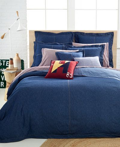 Tommy Hilfiger Full Queen Denim Duvet Cover Denim Comforter Bed Bed Comforters