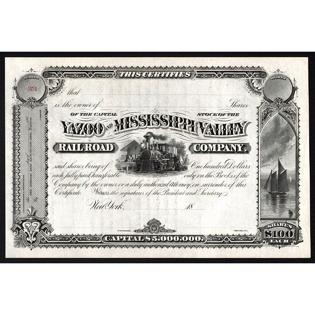 Yazoo and Mississippi Valley Railroad Company | Trains