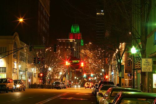 Christmas lights in downtown Winston-Salem, NC   Favorite Places I ...