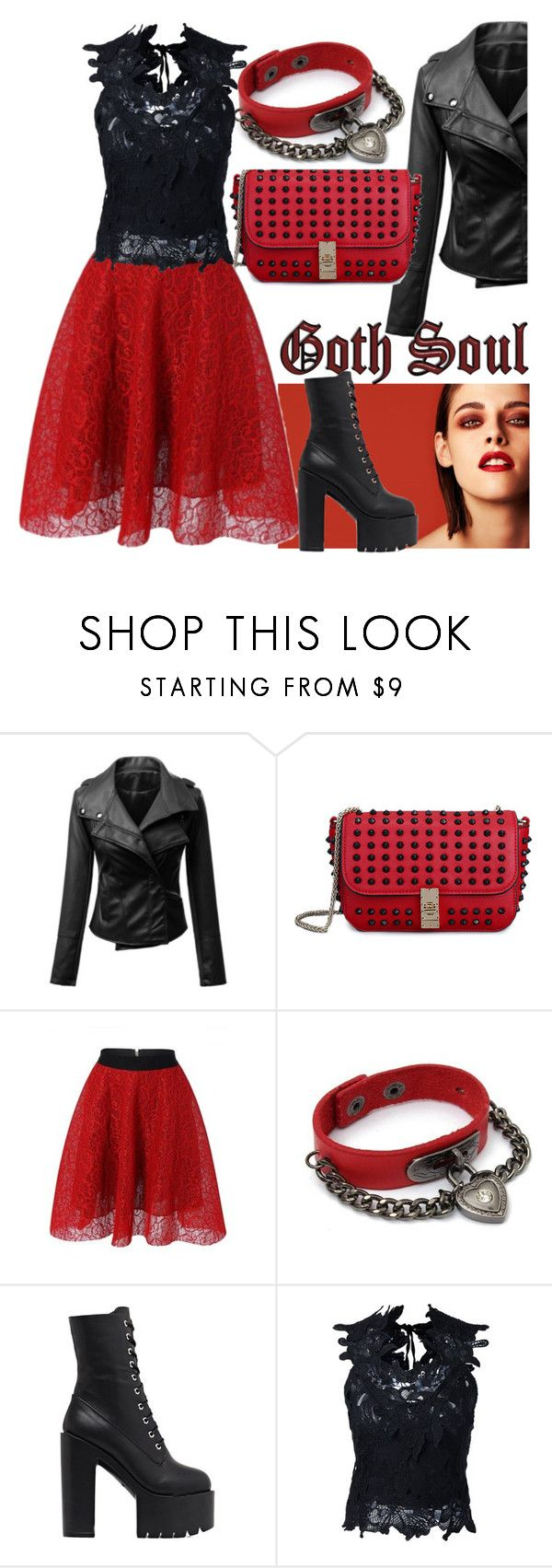 """""""Goth/punk style"""" by srebrnisnijeg ❤ liked on Polyvore featuring Chanel"""