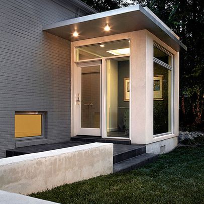Great Contemporary Side Entrance Modern Front Porches Porch