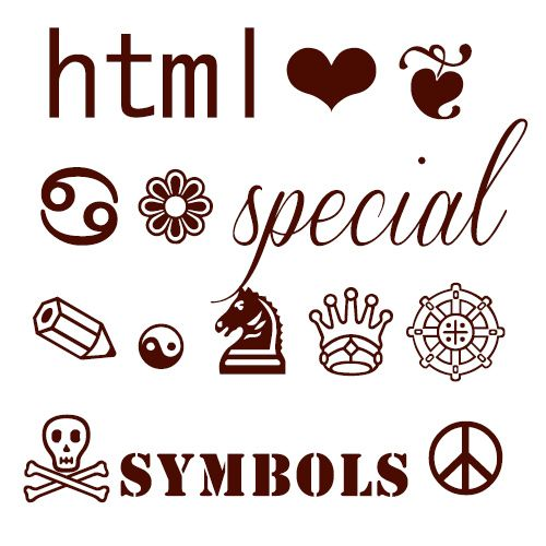 Html Codes For Fancy Symbols Html5 And More Pinterest Special