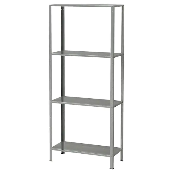 Hyllis Shelf Unit Indoor Outdoor Galvanized Ikea Ikea Shelves Ikea Shelving Unit