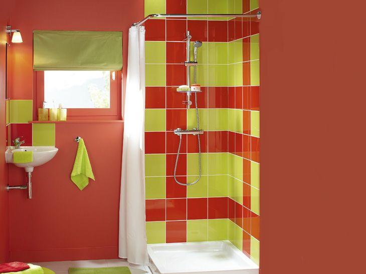 Effet graphique avec un mélange coloré Réf  carrelage mural en