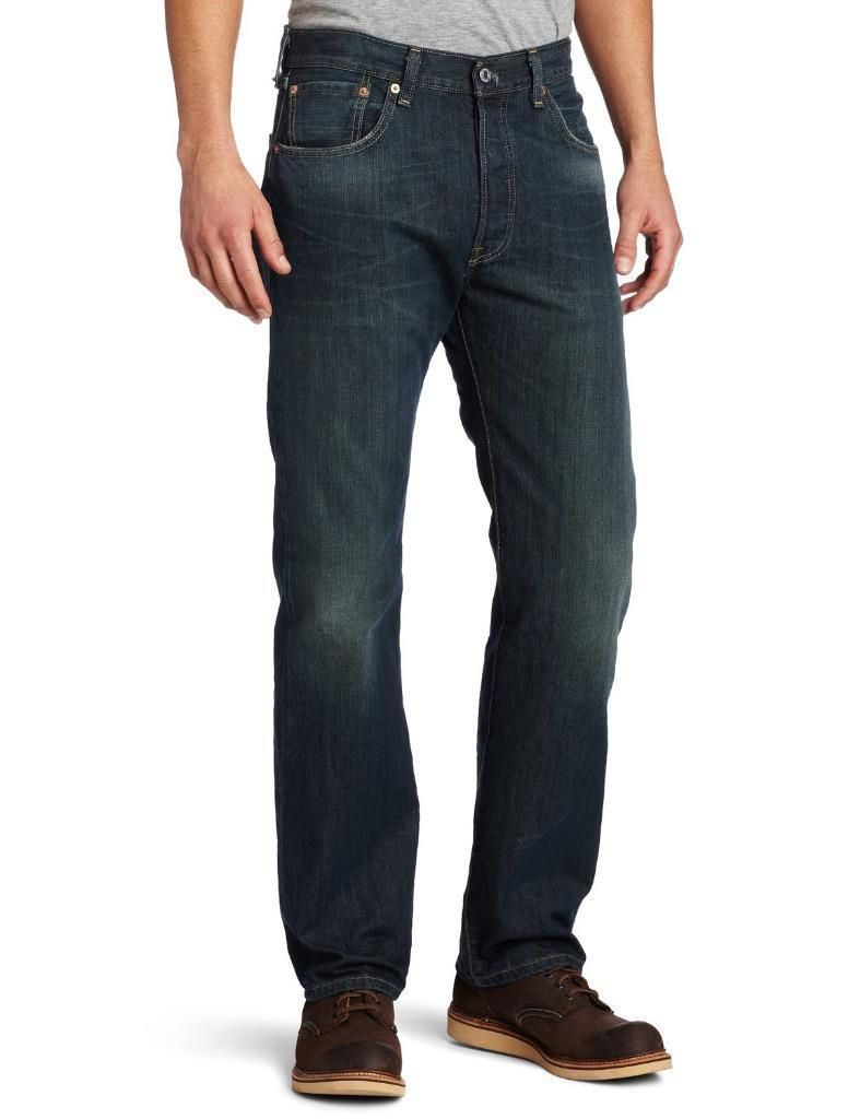 9e15353ee08 NEW LEVI S STRAUSS 501 MEN S PREMIUM STRAIGHT LEG JEANS BUTTON FLY 501-0990   jeans  button  straight  premium  strauss  mens  levis