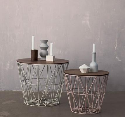 beistelltische und couchtische die sch nsten modelle f r ihr zuhause metallkorb mit. Black Bedroom Furniture Sets. Home Design Ideas