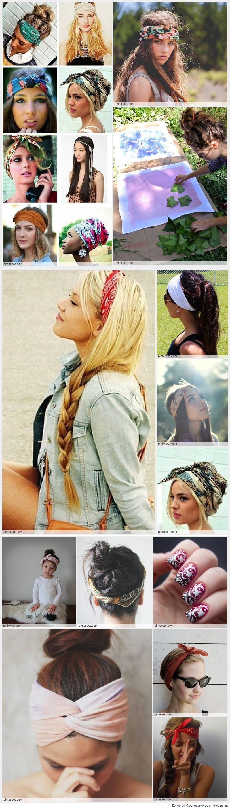 how to wear bandana in hair