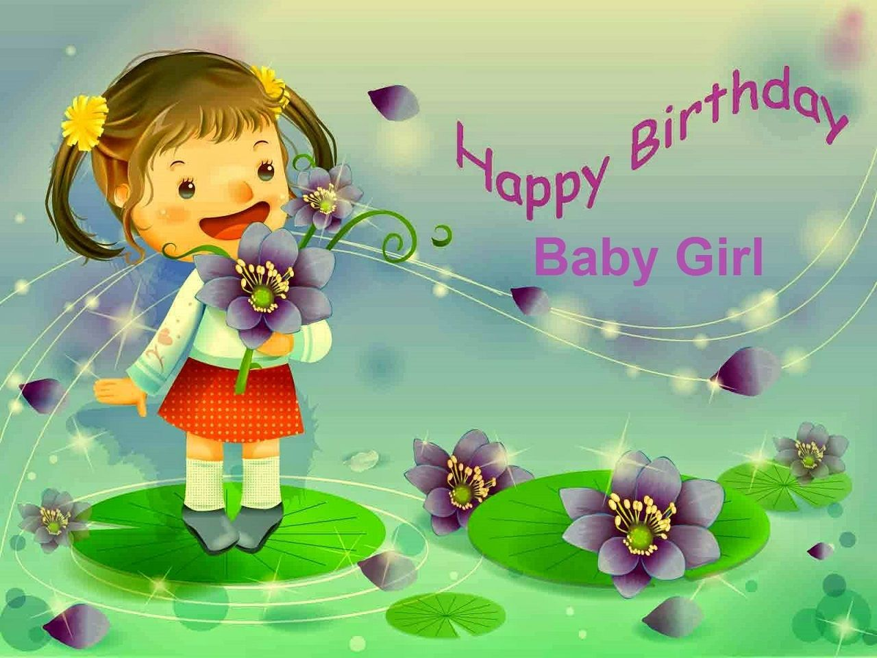 Pin By Allupdatehere On Lovely Birthday Wishes For Baby Girl