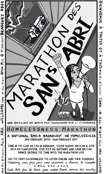 The Eleventh Annual Homelessness Marathon Will Once Again Serve Up