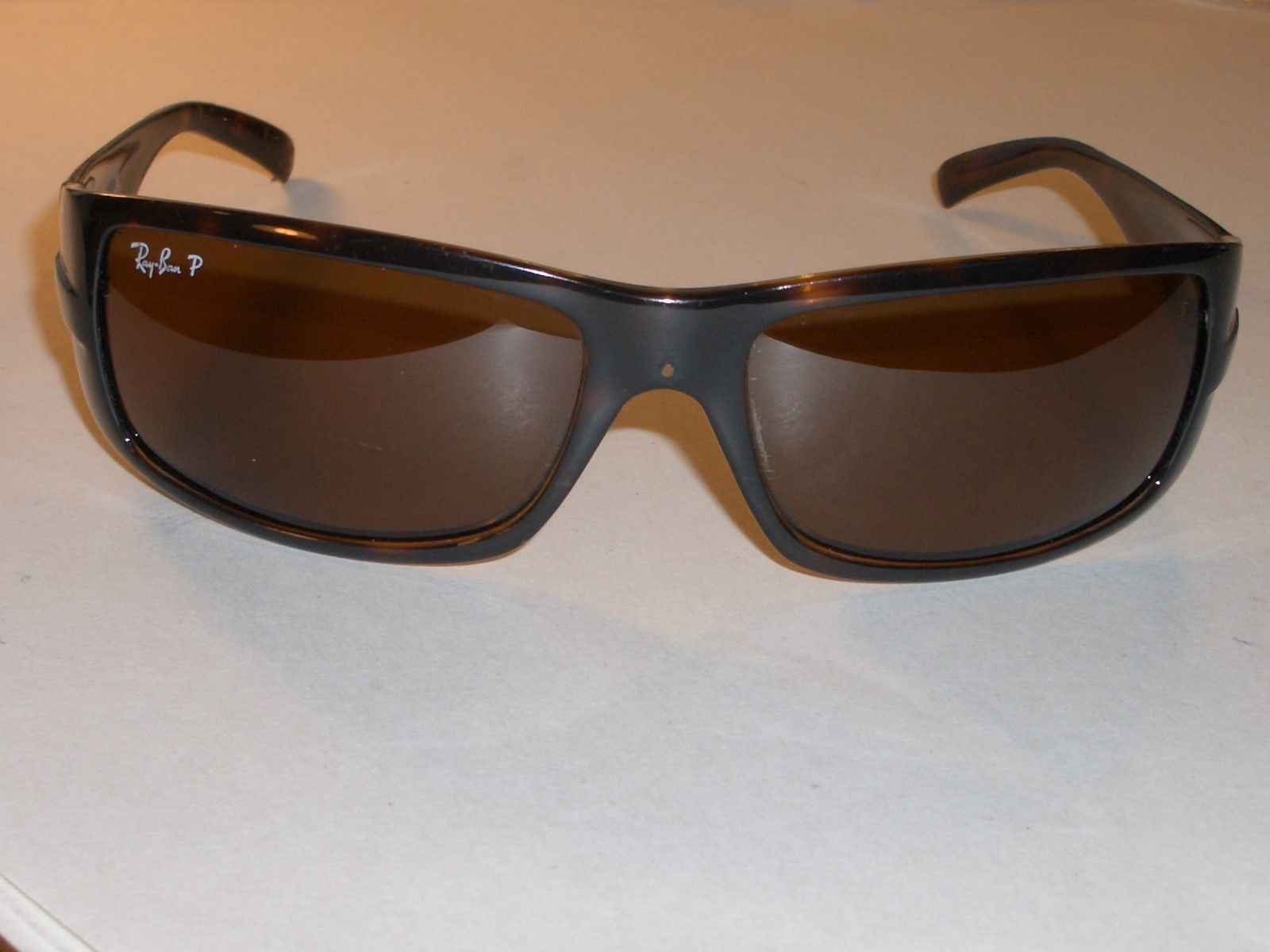 22dcc278dc3 Brown · RAY BAN RB4057 TORTOISE COLOR FRAMES WIDE BROWN POLARIZED LENS WRAP  SUNGLASSES