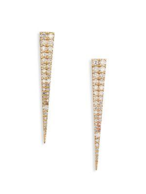 Lana Jewelry Vanity Expose Diamond Stud Earrings, 14k Yellow Gold